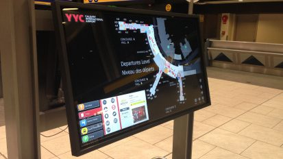 Interactive directories at YYC