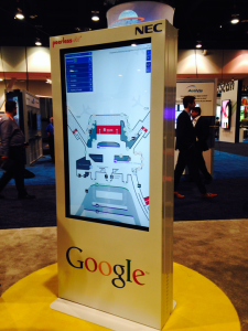DMS - Directory Management Studio on display in the Google Booth at Digital Signage Expo 2015 in Las Vegas