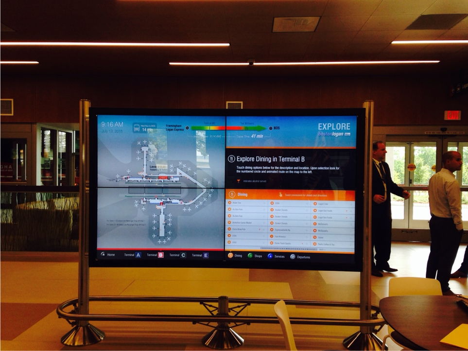 Interactive digital sign now available at Framingham Logan Express terminal