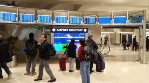 Digital Signage in Center Link of Terminal A at Detroit Metro Airport