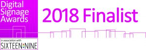 Finalist Logo for the 2018 Digital Signage Awards